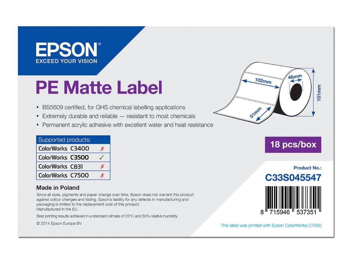 Epson PE - Matt - 102 x 51 mm 535 Etikett(en) (1 Rolle(n) x 535) gestanzte Etiketten