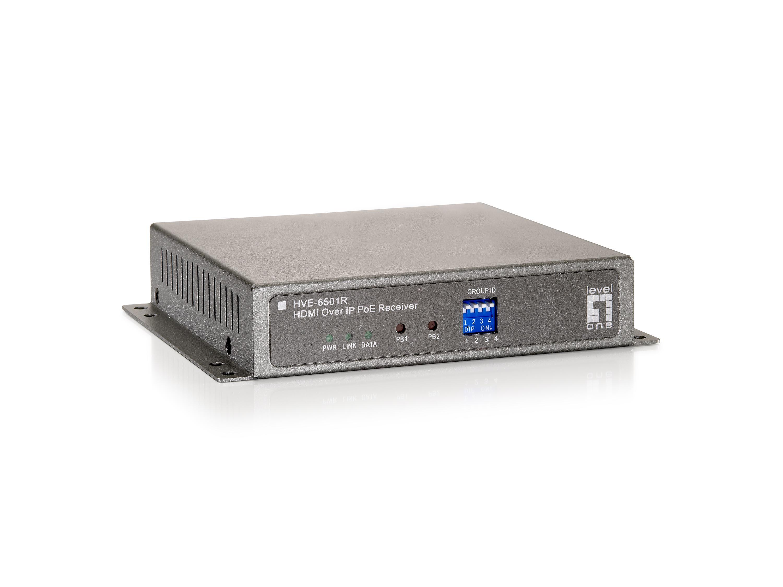 LevelOne HVE-6501R AV-Receiver Grau
