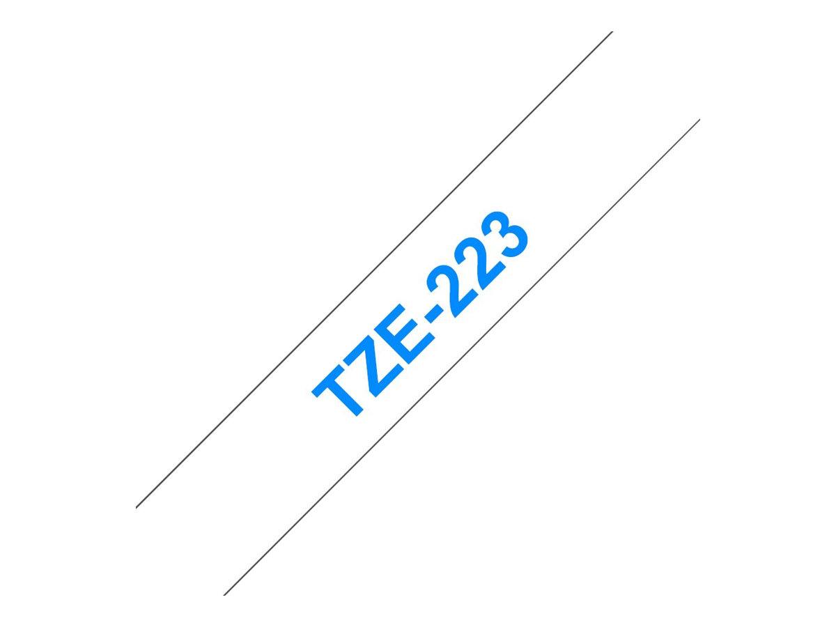 Brother TZe223 - Blau auf weiß