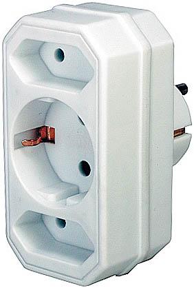 Brennenstuhl Adapter with 2 + 1 sockets - Weiß
