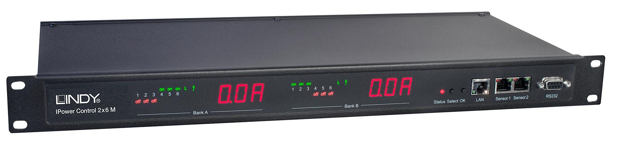 Lindy IPowerControl 2x6 M - Power Control Unit ( Rack-montierbar ) - Wechselstrom 230 V