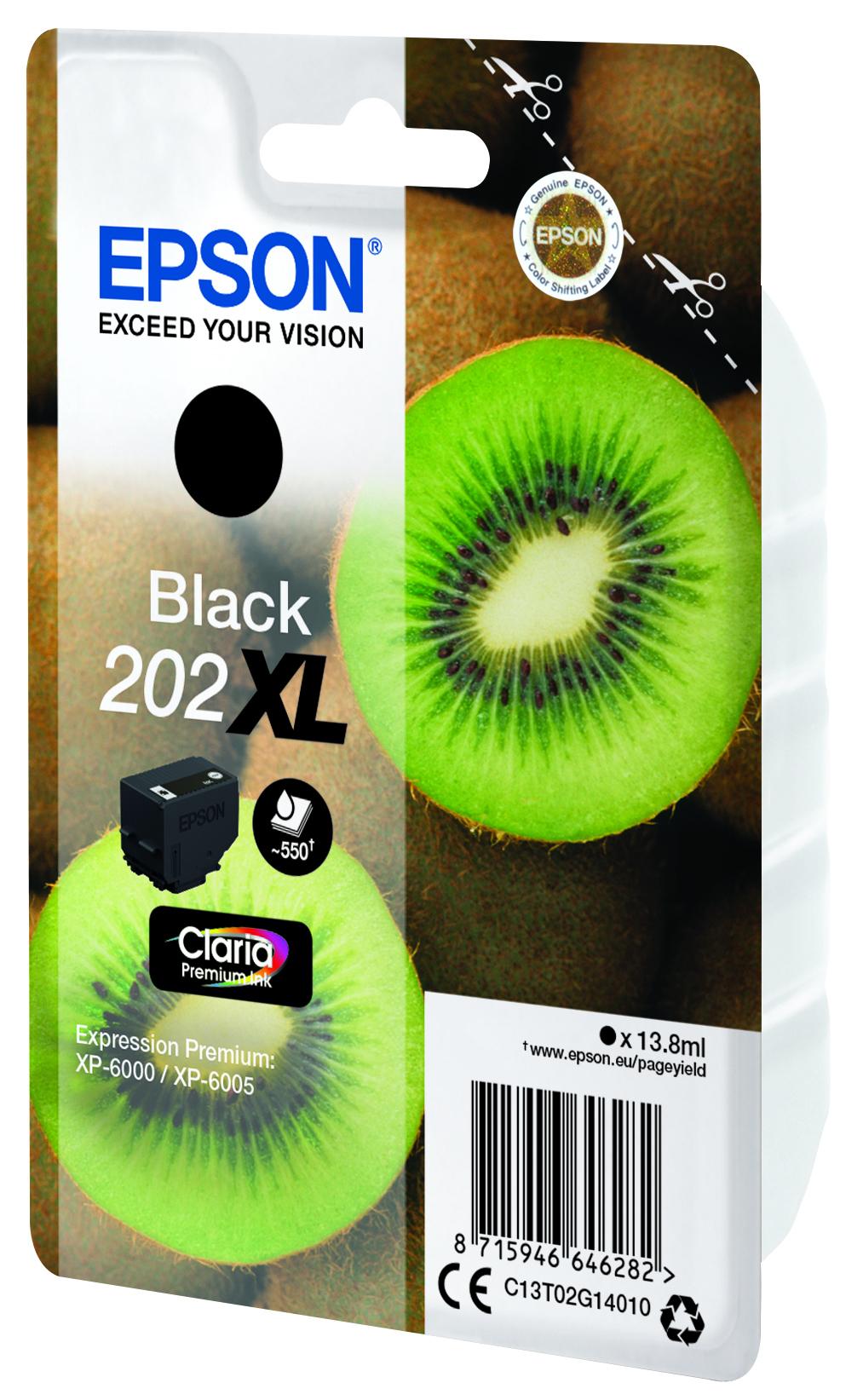 Epson-C13T02G14020-Kiwi-Singlepack-Black-202XL-Claria-Premium-Ink-Original thumbnail 4