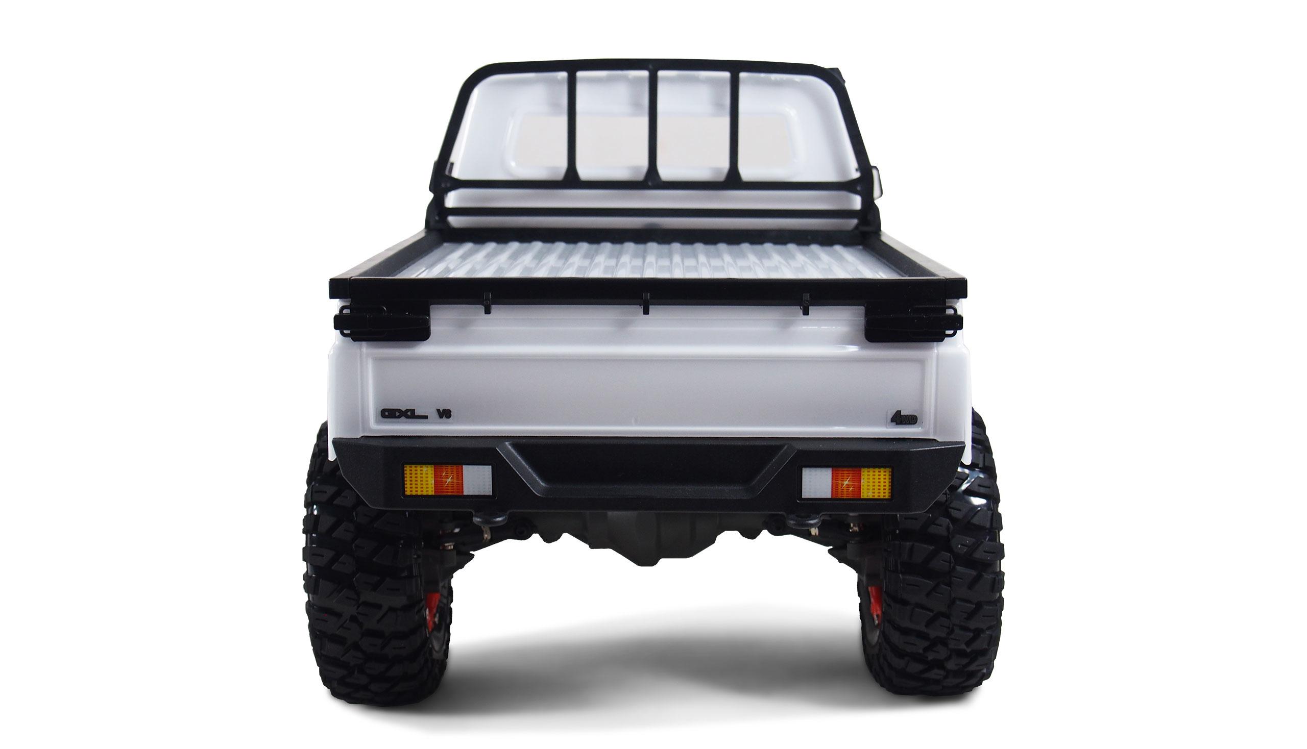 Amewi AMXRock RCX10P Scale Crawler - Raupenfahrzeug - Elektromotor - 1:10 - Betriebsbereit (RTR) - Schwarz - Weiß - Aluminium - Metall