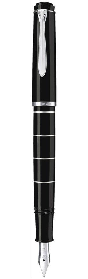 Pelikan M 215 - Schwarz - Schwarz - Messing - Medium - Beidhändig - Deutschland
