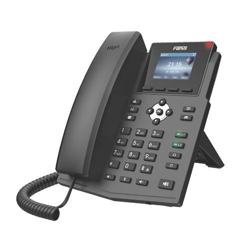 Fanvil X3SP V2 - Schwarz - Kabelgebundenes Mobilteil - Wireless - 320 x 240 Pixel - 6,1 cm (2.4 Zoll) - 2 Zeilen