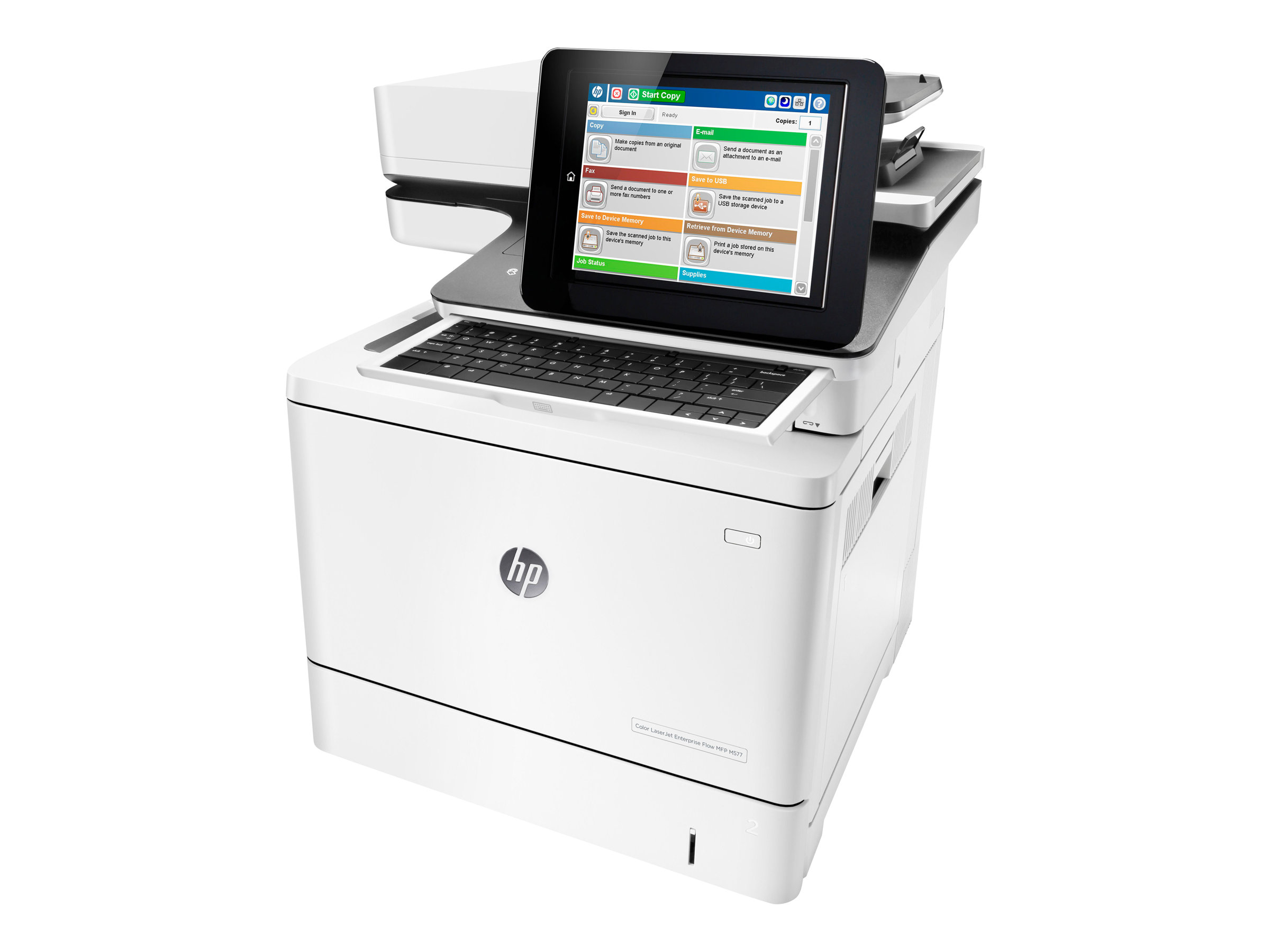 HP LaserJet Enterprise Flow MFP M577c - Multifunktionsdrucker - Farbe - Laser - Legal (216 x 356 mm)
