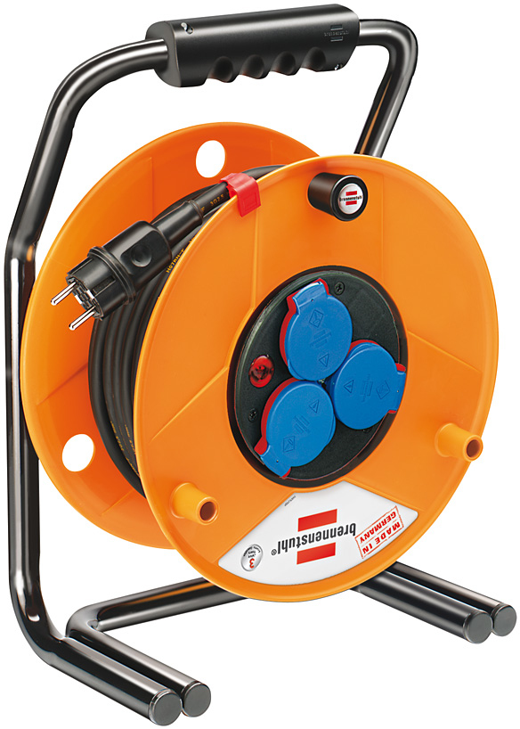 Brennenstuhl Brobusta IP44 cable reel for site & professional 40m H07RN-F 3G2,5