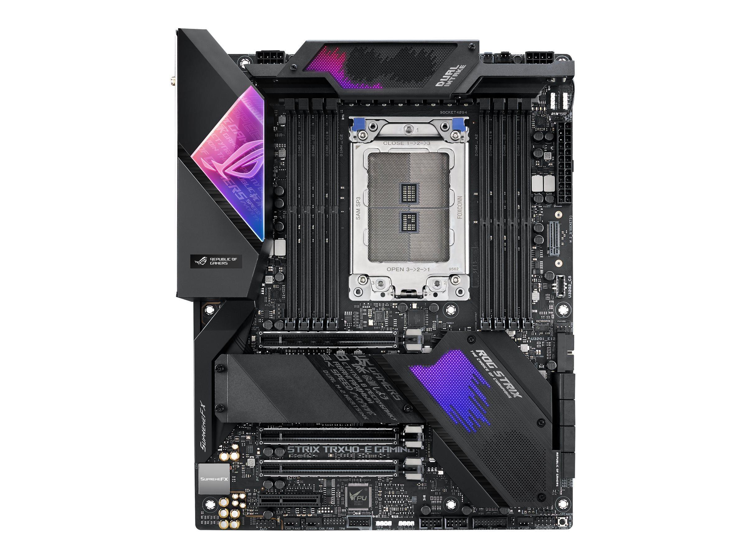 ASUS ROG Strix TRX40-E Gaming - Motherboard - ATX - Socket sTRX4 - AMD TRX40 - USB-C Gen2, USB 3.2 Gen 2 - Gigabit LAN,