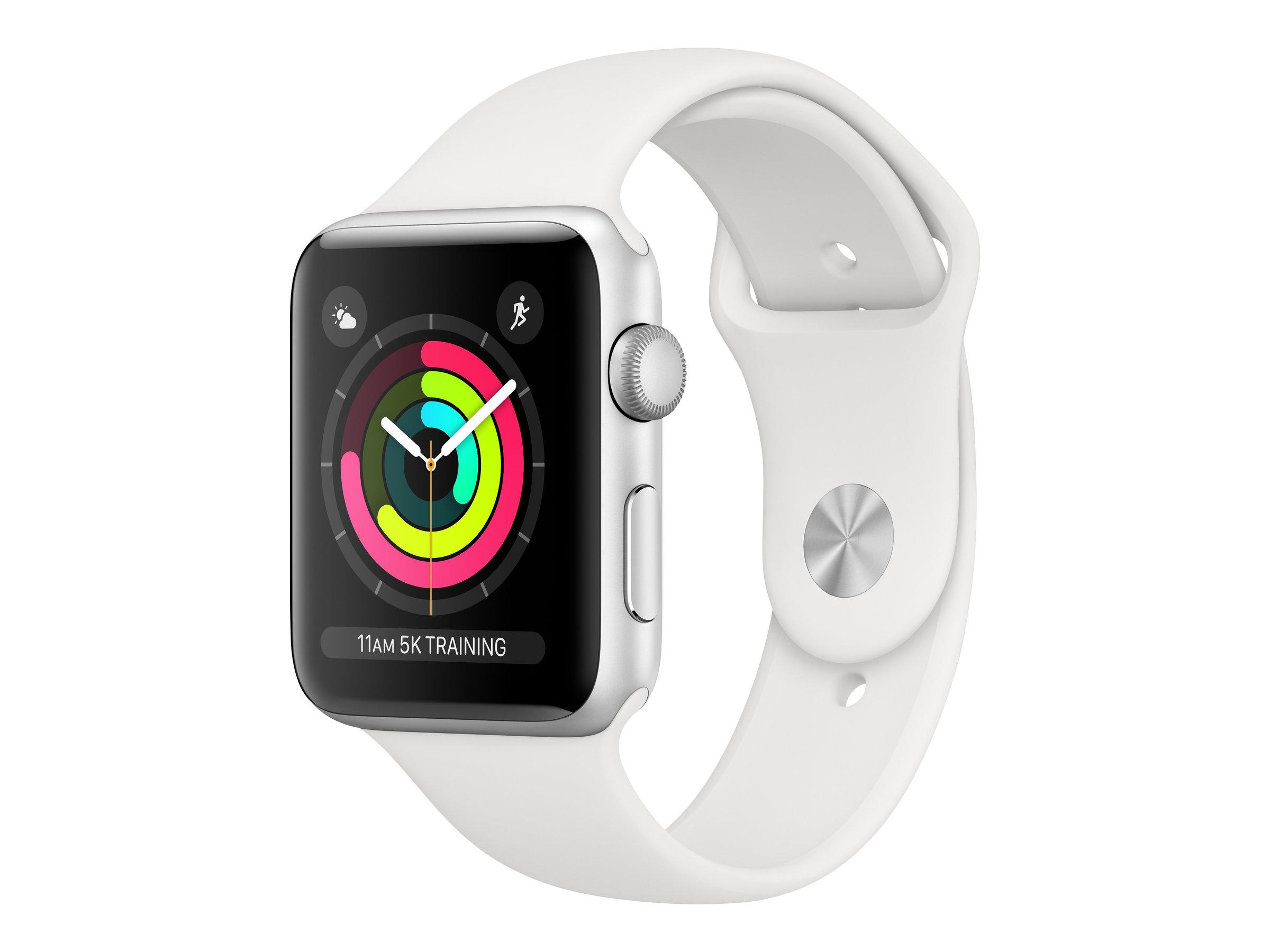 Apple Watch Series 3 (GPS) - 42 mm - Aluminium, Silber