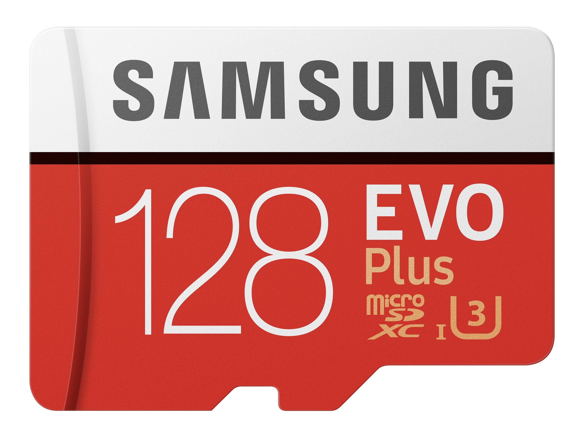 Samsung EVO Plus MB-MC128HA - Flash-Speicherkarte (microSDXC-an-SD-Adapter inbegriffen)