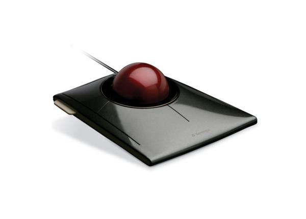 Kensington SlimBlade-Trackball - Maus, Trackball - Optisch - Schwarz, Grau, Rot