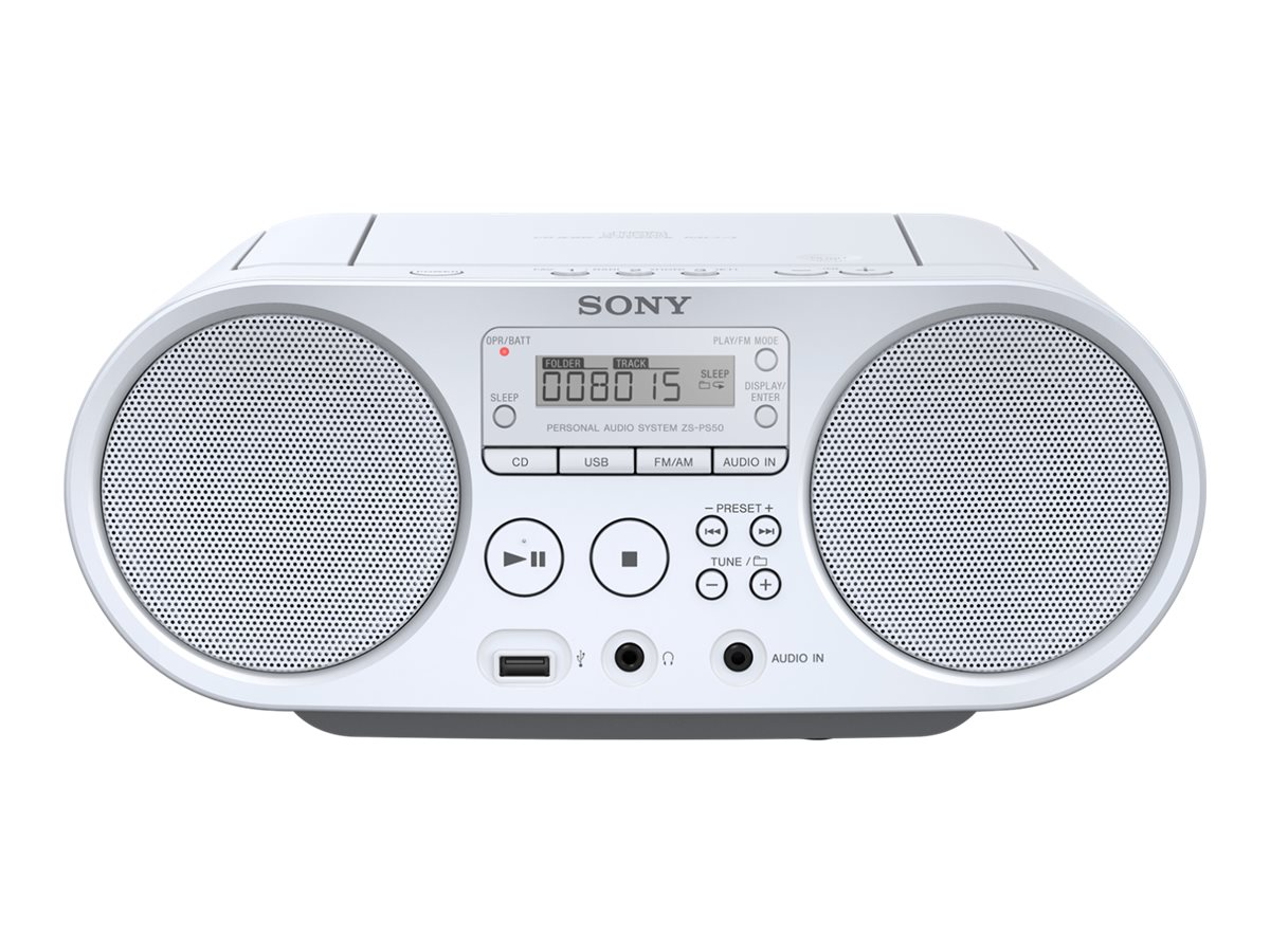 Sony ZS-PS50 - Ghettoblaster - 4 Watt