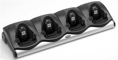 Zebra 4-Slot Cradle - Handheld-Ladestation - für Zebra MC9090-Z RFID