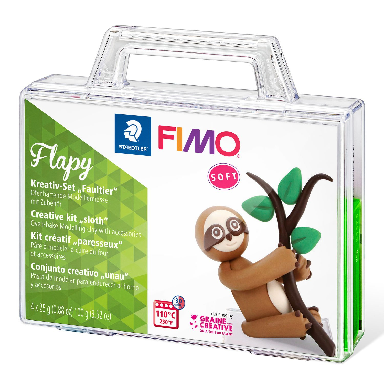 STAEDTLER FIMO Flapy - Knetmasse - Beige - Braun - Schokolade - Grün - Erwachsene - 4 Stück(e) - 4 Farben - 110 °C