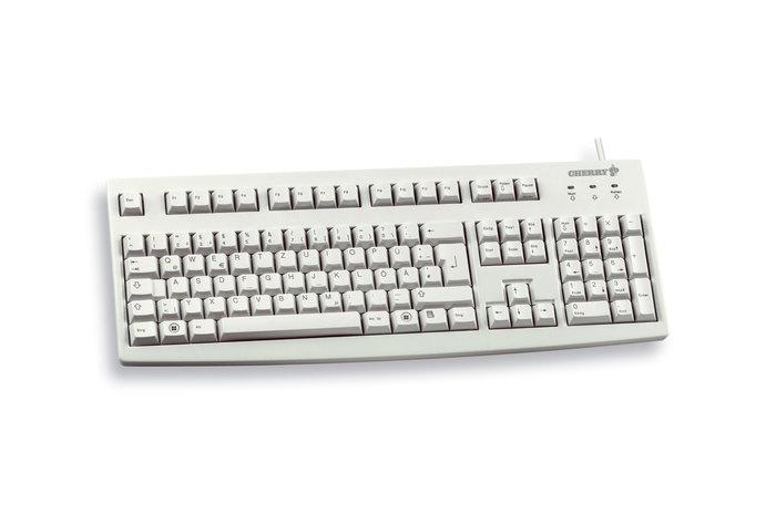 Cherry Classic Line G83-6104 - Tastatur - Laser - 104 Tasten QWERTY - Grau