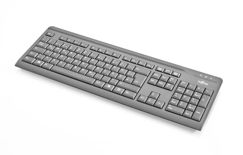 Fujitsu KB410 - Tastatur - USB - Kasachstan - Schwarz