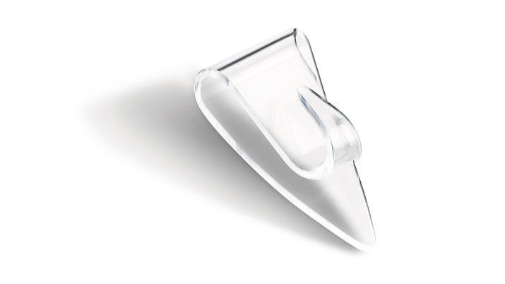 Tesa Powerstrips - Indoor - Universalhaken - Transparent - Klebestreifen - 0,2 kg - Dreieck