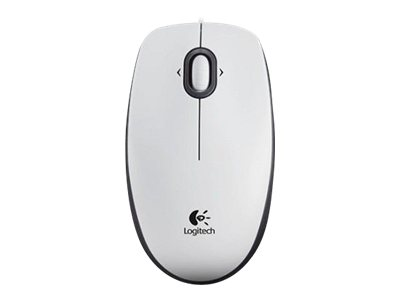 Logitech B100 - optische Maus - weiß