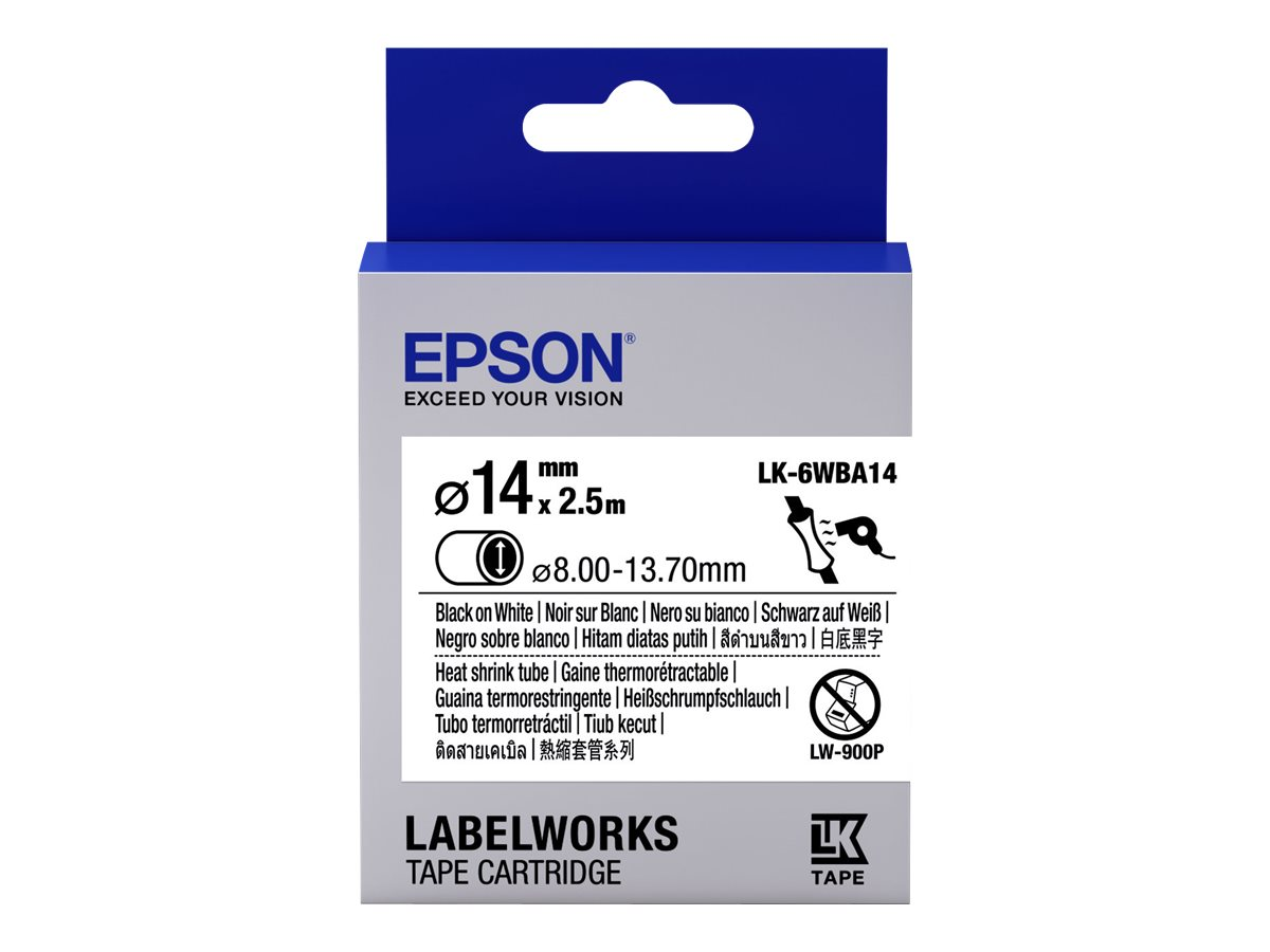 Epson LabelWorks LK-6WBA14 - Schwarz auf Weiß