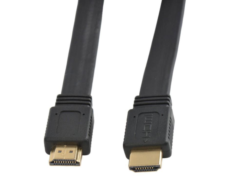 Techly HDMI High Speed mit Ethernet Flachkabel 4K 60Hz 2m