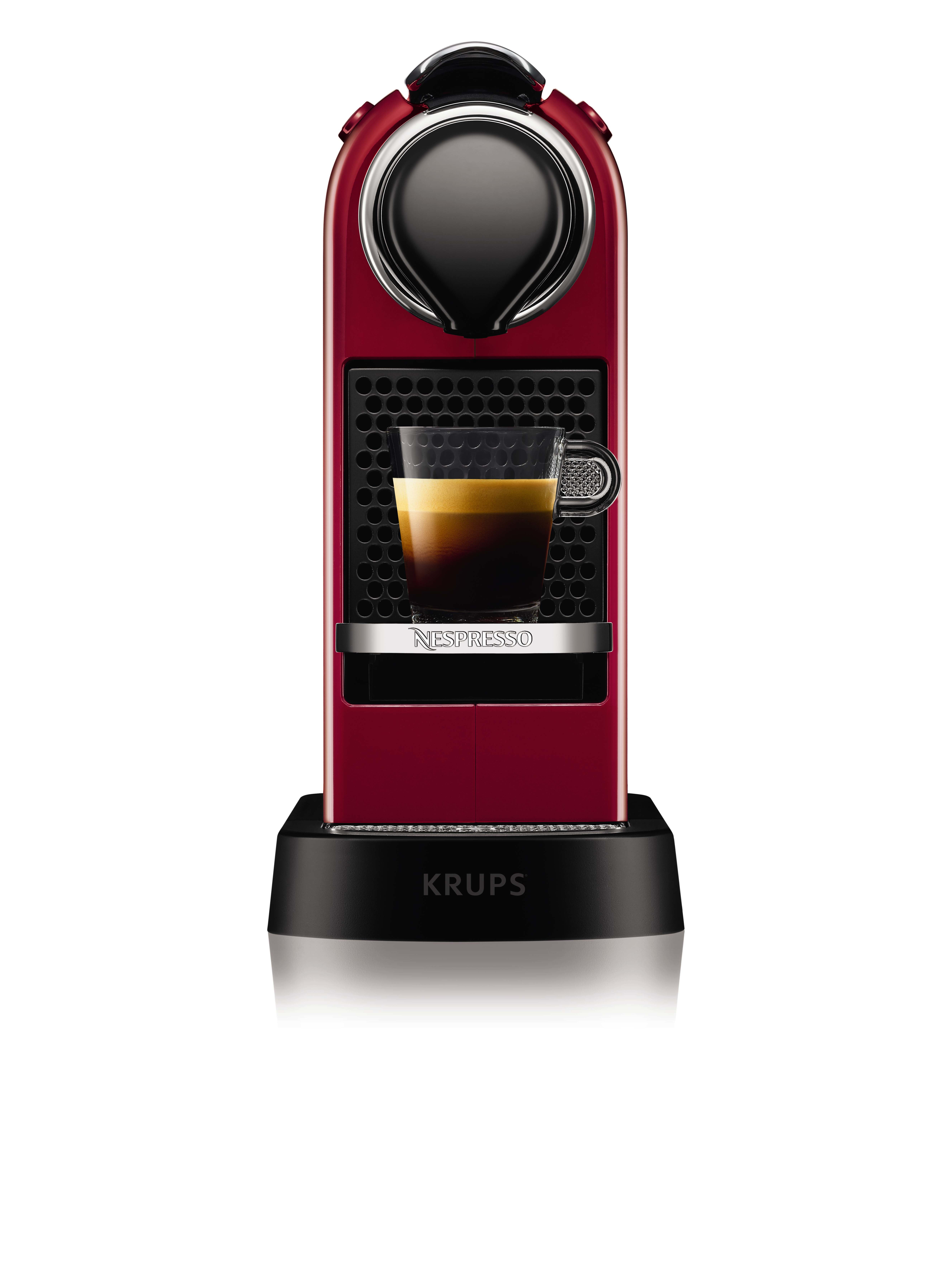 krups nespresso citiz freistehend pad kaffeemaschine 1l schwarz rot xn7405 eur 233 90. Black Bedroom Furniture Sets. Home Design Ideas