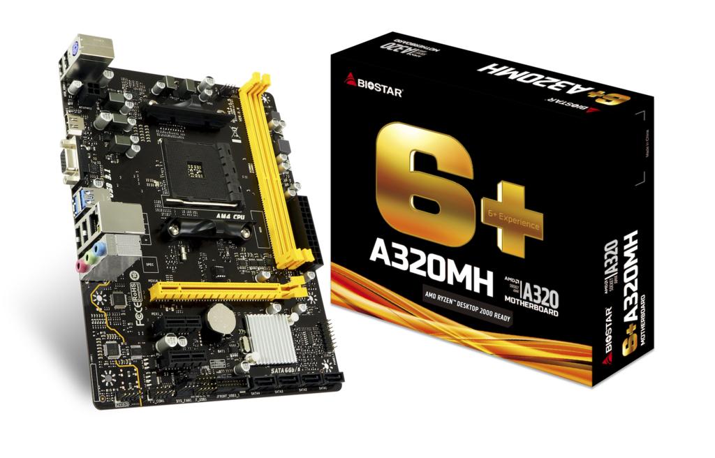 Biostar A320MH AMD A320 Buchse AM4 Micro ATX Motherboard