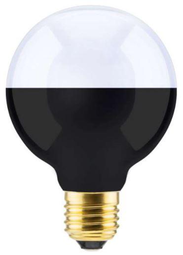 Segula LED Lampe - Globe 80mm - schwarz-silber - dimmbar - E