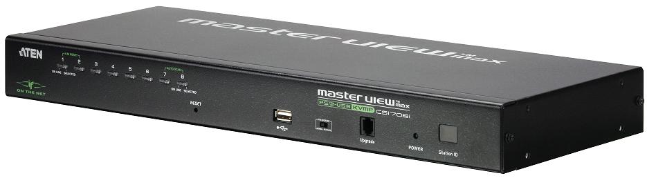 ATEN CS1708I Schwarz Tastatur/Video/Maus (KVM)-Switch