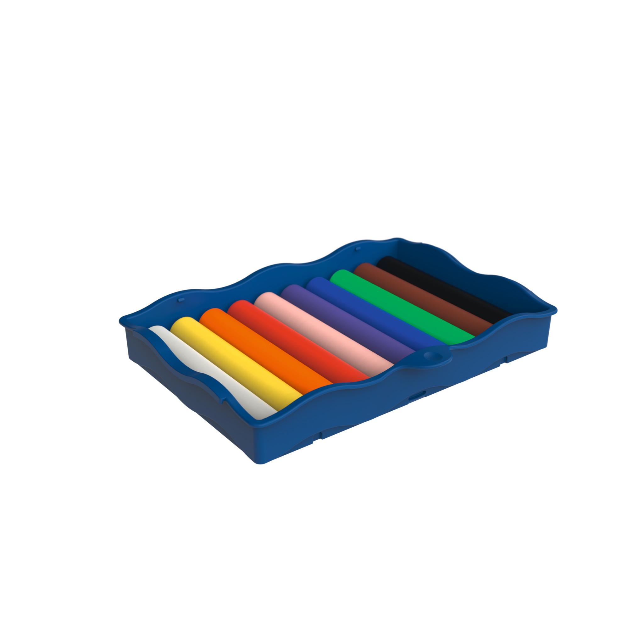 Vorschau: Pelikan Kreativfabrik Creaplast - Modellierton - Schwarz - Blau - Braun - Grün - Orange - Pink - Violett - Rot - Weiß - Gelb - Kinder - 10 Stück(e) - 10 Farben - Junge/Mädchen