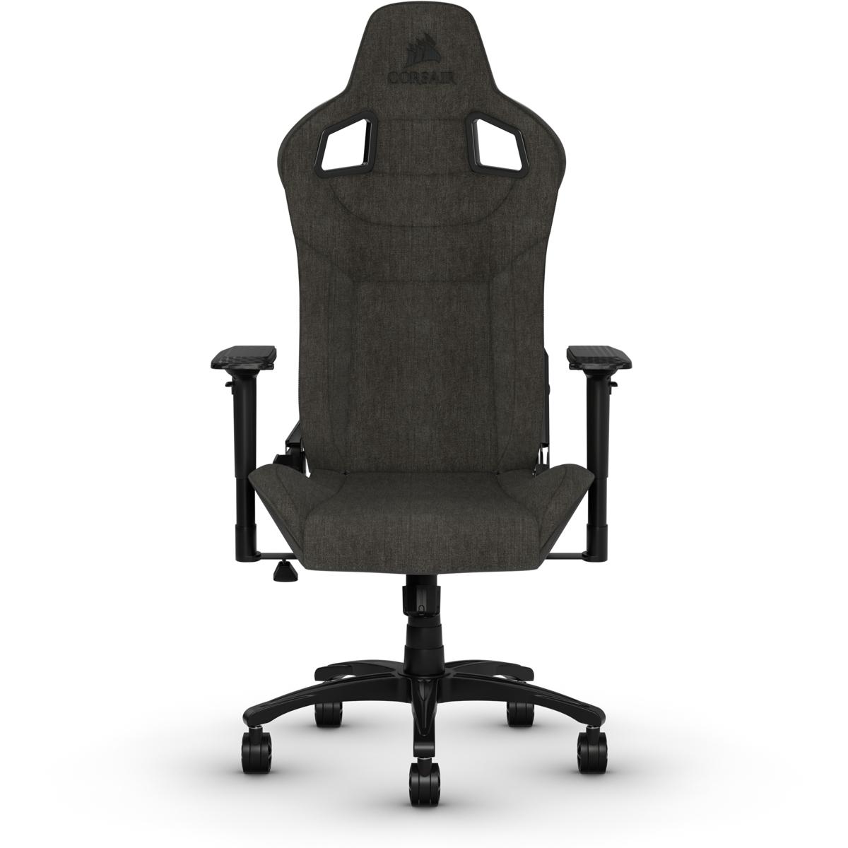 Corsair T3 RUSH - PC-Gamingstuhl - Universal - 120 kg - Gepolsterter Sitz - Harte Rückenlehne - Nylon