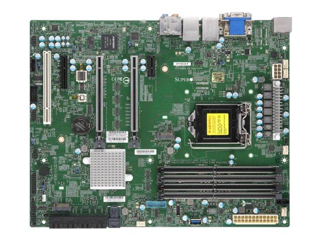 Vorschau: Supermicro X11SCA-F - Motherboard - ATX - LGA1151 Socket - C246 - USB 3.1 Gen 1, USB-C Gen2, USB 3.1 Gen 2 - 2 x Gigabit LAN - Onboard-Grafik (CPU erforderlich)