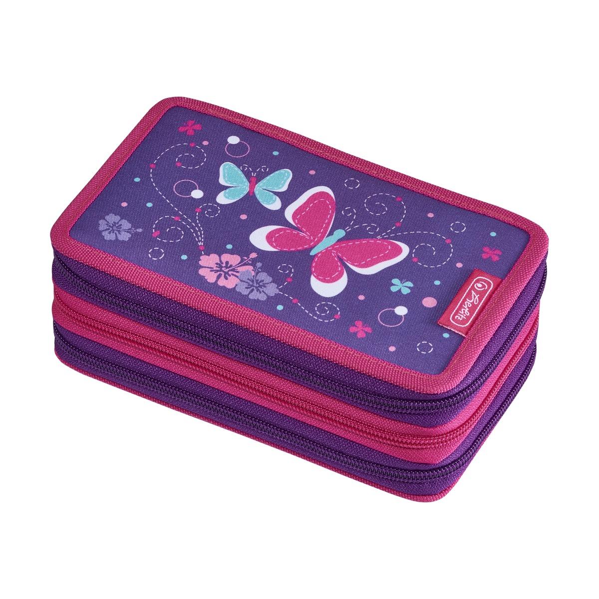 Herlitz 50021048 - Federmäppchen - Butterfly - Pink - Violett - Polyester