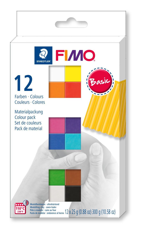 STAEDTLER Fimo Modelliermasse Soft Mehrfarbig - Knetmasse - Gemischte Farben - Erwachsene - 12 Stück(e) - 110 °C - 30 min