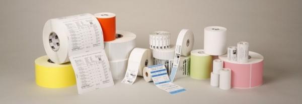 Zebra Z-Perform 1000D - Papier - permanenter Acrylklebstoff - unbeschichtet - weiß - 102 x 102 mm 8400 Etikett(en) (12 Rolle(n)