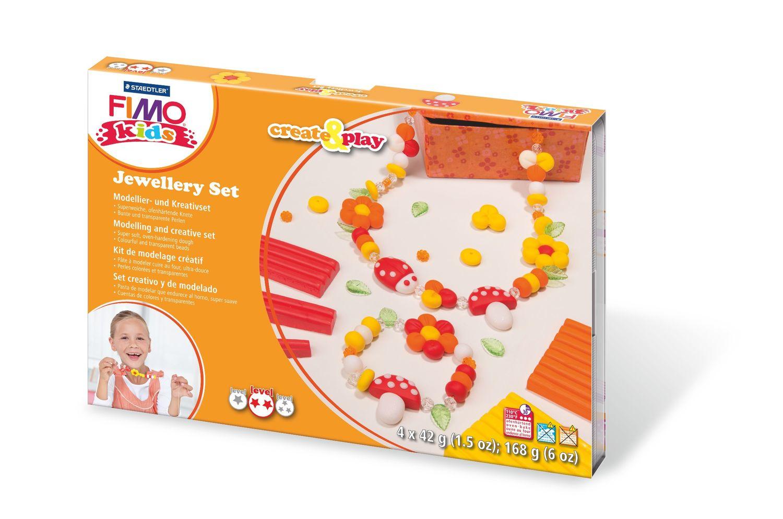 Vorschau: STAEDTLER FIMO 8033 02 - Knetmasse - Orange - Rot - Weiß - Gelb - Kinder - 4 Stück(e) - 4 Farben - 110 °C