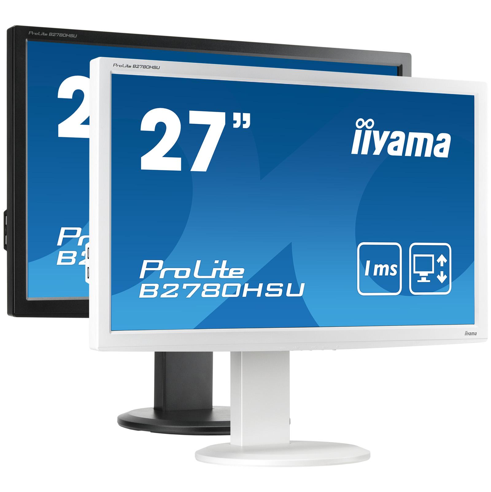 Iiyama ProLite B2780HSU-W1 27Zoll Full HD TN Matt Weiß Computerbildschirm LED display
