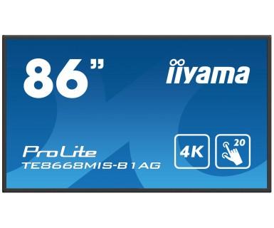 Iiyama ProLite TE8668MIS-B1AG 86Zoll 3840 x 2160Pixel Multi-touch Multi-Nutzer Schwarz Touchscreen-Monitor