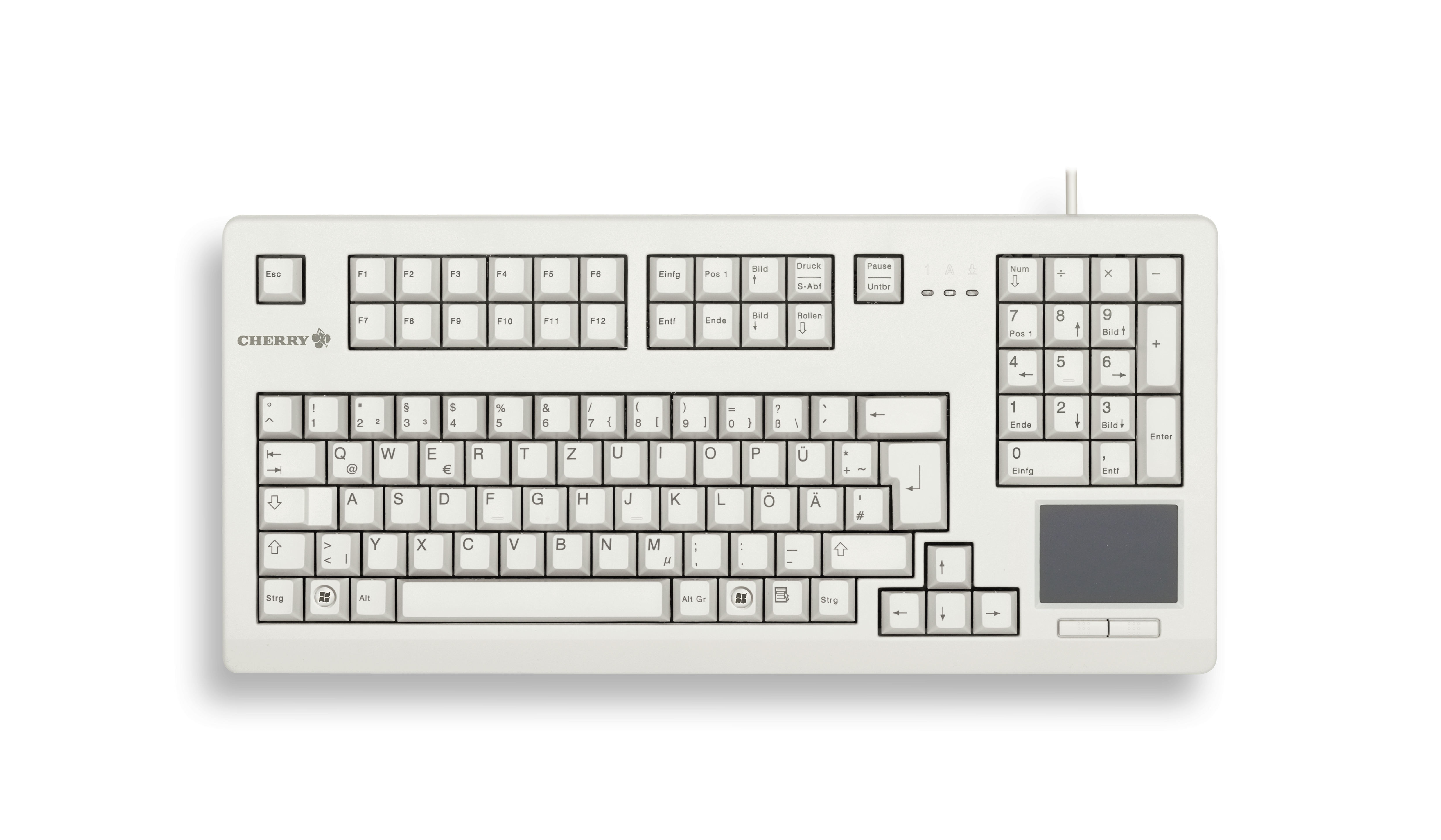 Cherry Advanced Performance Line TouchBoard G80-11900 - Tastatur - 1.000 dpi - 105 Tasten QWERTZ - Grau