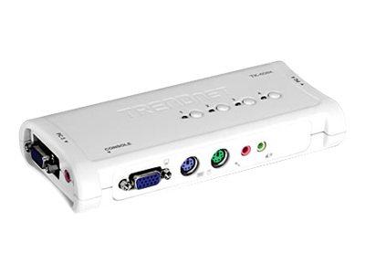 TRENDnet TK 408K - KVM-/Audio-Switch - 4 x KVM/Audio