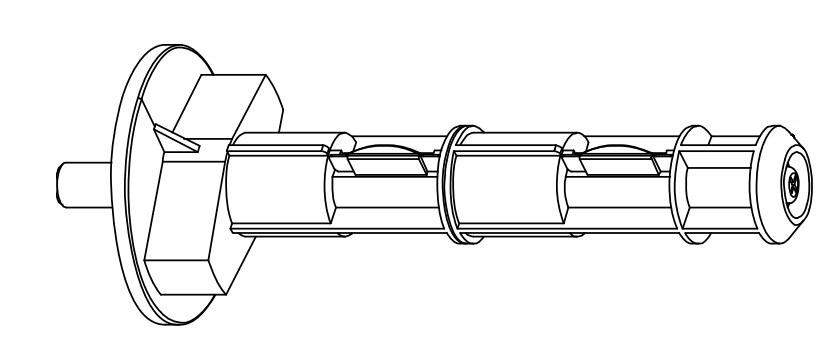 HONEYWELL DPR15-2768-11 - Bandkern - Etikettendrucker - Datamax O'Neil - I-4206 / I-4208 / I-4308 / I-4210 / I-4212 / I-4406 / I-4604 - 1 Stück(e)