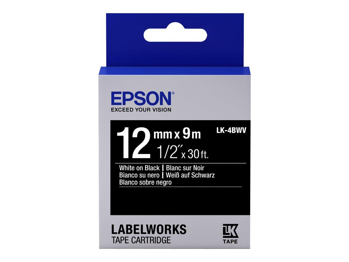 Epson LabelWorks LK-4BWV - Weiß auf Schwarz
