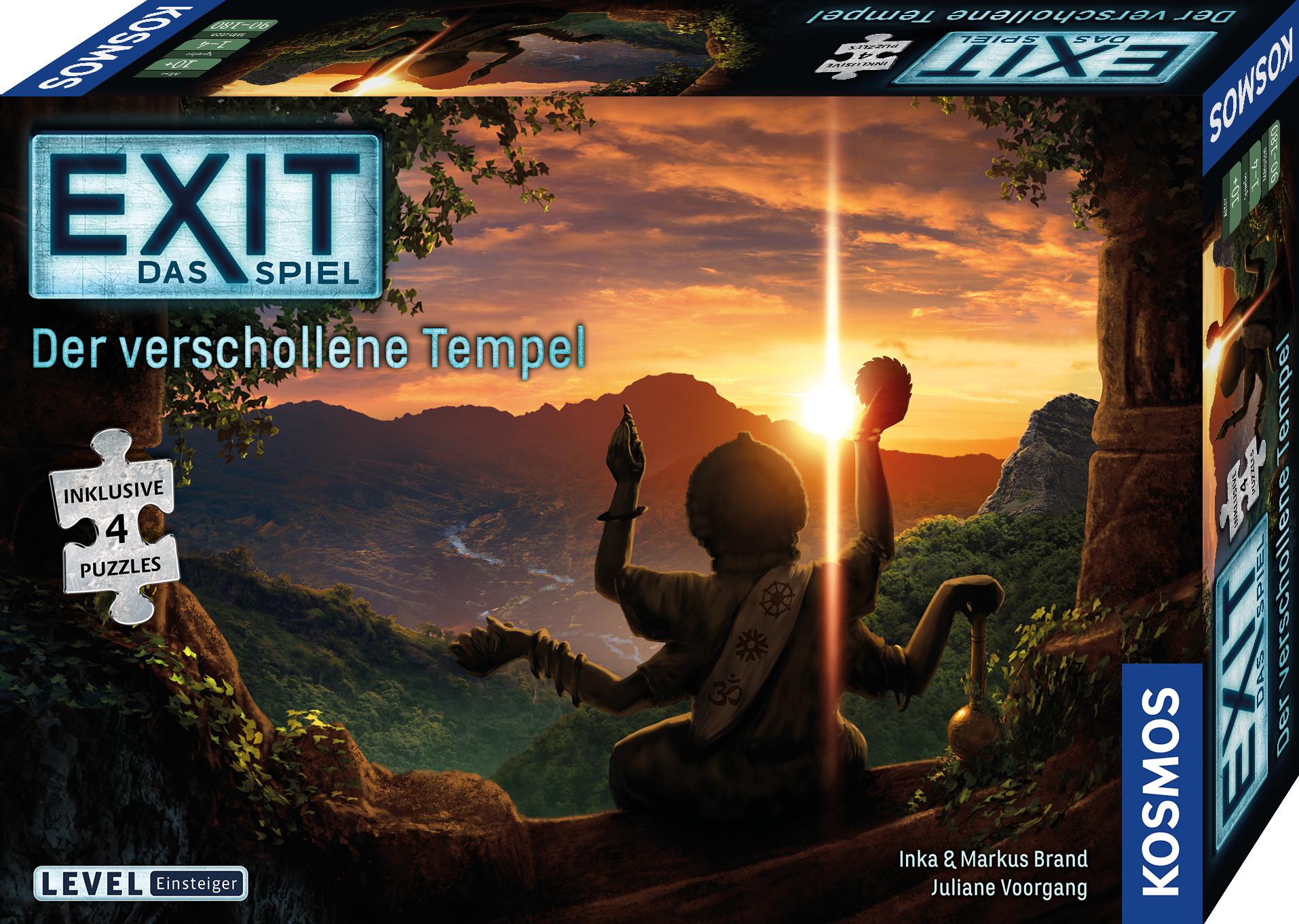 Kosmos EXIT - Das Spiel + Puzzle: Der verschollene Tempel - Puzzle board game - Erwachsene & Kinder - 10 Jahr(e)