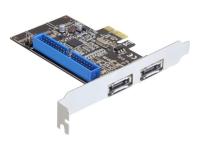 PCI Express Card > 2 x external eSATA 6 Gb/s + 1 x internal IDE - Speichercontroller (RAID) - IDE / eSATA-600