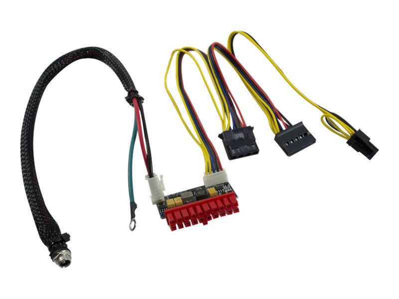 Inter-Tech Mini-ITX PSU 120W DC/DC - Stromkabel - Gleichstromstecker, ATX, 20-polig bis interne Stromversorgung, 4-polig