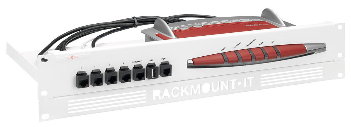 Rackmount.IT RM-FB-T1 - Montageset - Weiß - 1.3U/2U - AVM Fritz!box 6490 - 7490 - 482 mm - 217 mm