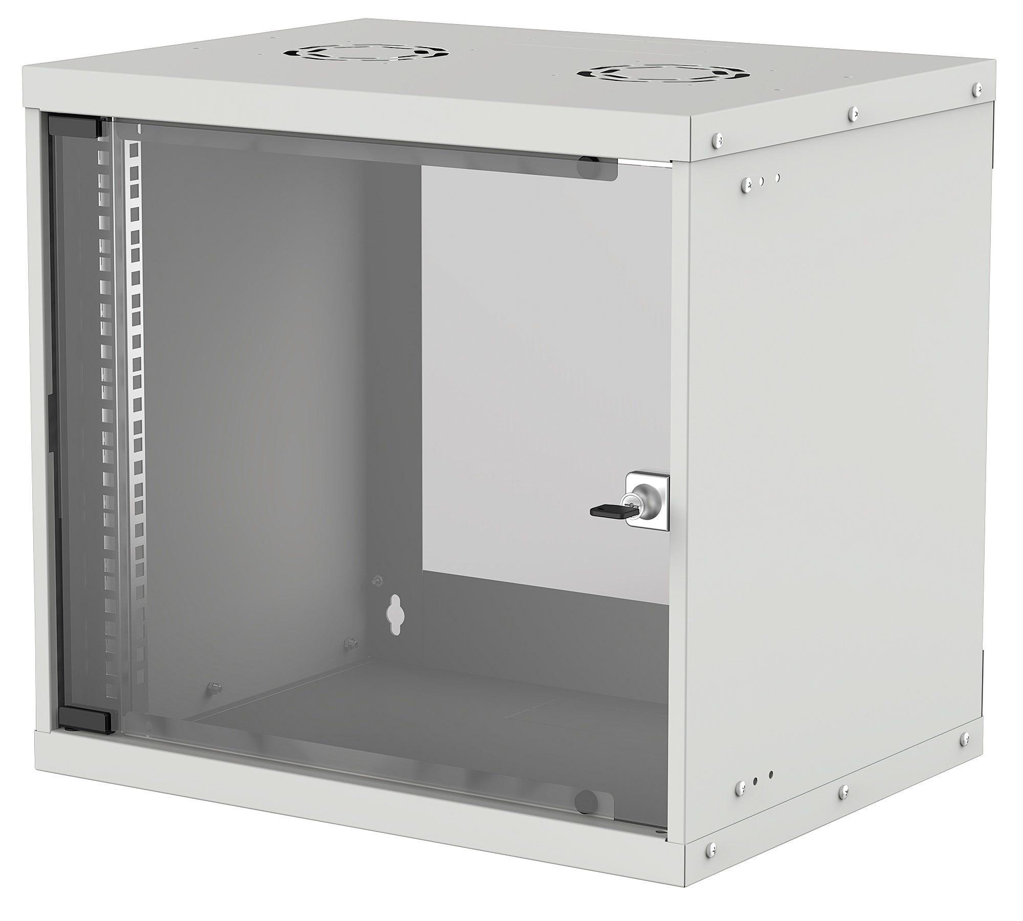 Intellinet 714815 - 9U - Wandmontiertes Regal - 50 kg - Grau - Galvanisiertes Stahl - Geschlossen