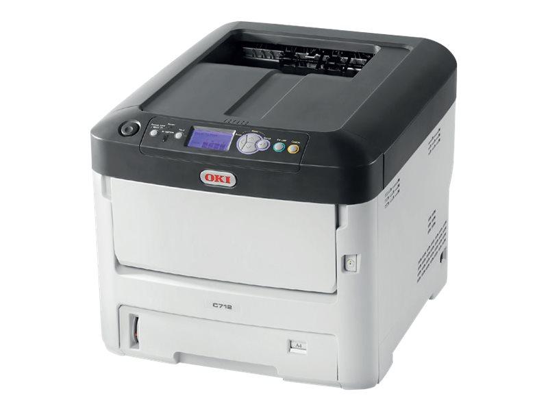 OKI C712dn - Drucker - Farbe - Duplex - LED - A4 - 1200 x 600 dpi - bis zu 36 Seiten/Min. (einfarbig)/