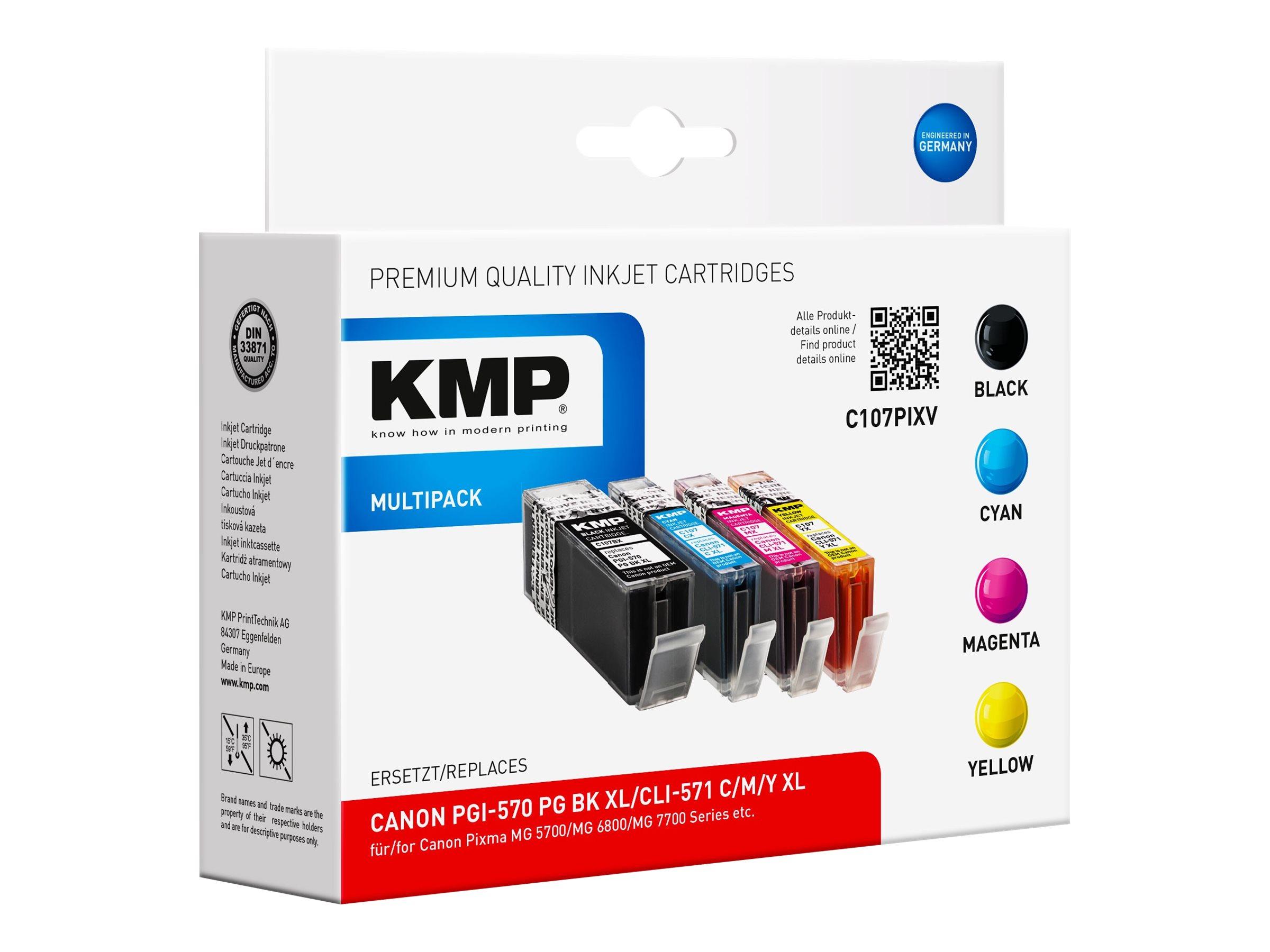 KMP MULTIPACK C107PIXV - 4er-Pack - Hohe Ergiebigkeit