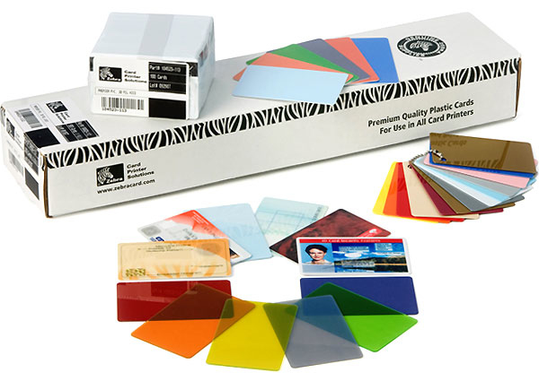 Zebra Color - Polyvinylchlorid (PVC) - 30 mil - Blau - CR-80 Card (85.6 x 54 mm)