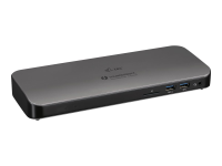Thunderbolt 3 Dual 4K Docking Station + USB-C to DisplayPort Adapter + Power Delivery 85W - Verkabelt - Thunderbolt 3 - 3,5 mm - 10,100,1000 Mbit/s - Schwarz - SD